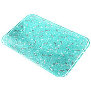 DCCKU3R Bones and Stars Glitter Pattern All Over Glass Cutting Board