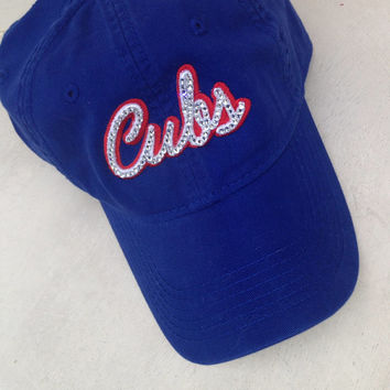 womens baseball hats with bling caps ladies cubs inspired custom embroidered hat cap team
