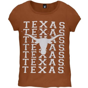 Texas Longhorns -  Rhinestone Ray Girls Youth T-Shirt