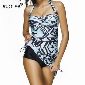 VONETDQ Swimwear 2017 Sexy Swimsuit Women Plus Size Tankini Sets Swim Beach Wear Bathing Suits Female Padded Bandage Monokini Swim Suit