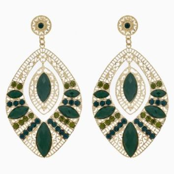 Green-Gold-Jewel-Statement-Earrings