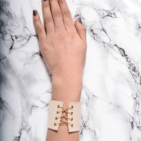 Don't Criss Cross Me Cuff Bracelet - Cream