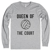 Queen of the Court-Unisex Heather Grey T-Shirt