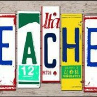 Teacher  License Plate Art  Decorative Sign Tag