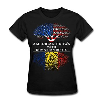 American Grown With Romanian Roots - Women's T-shirt
