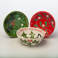 Personalised Hand Painted Christmas Bowl