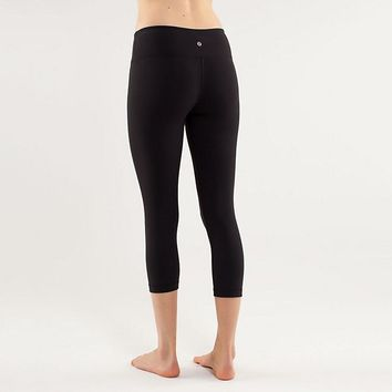 Lululemon Wunder Under Crop Women Sport Leggings Pants Trousers-5