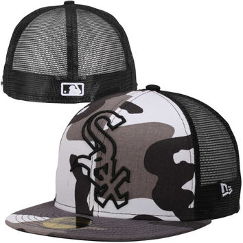 New Era Chicago White Sox 59FIFTY Urban Camo Mesh Fitted Hat - Camo/Black