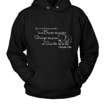 ONETOW Christopher Robin Winnie The Pooh Quotes Hoodie Two Sided