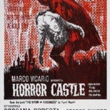 Horror Castle Movie poster Metal Sign Wall Art 8in x 12in