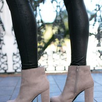 Comes Easy Grey Ankle Bootie