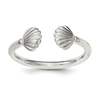 Sterling Silver Polished Shell Ring