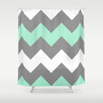 Mint Colored Shower Curtain Custom Chain Link Shower Curtain Mint