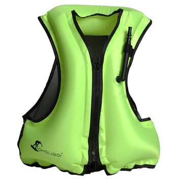 Water Sports Fishing Life Vest  Adult Inflatable Swim Vest Life Jacket Drifting Surfing  Life Saving Swimming Survival Vest