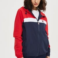 Hooded Colour Block Jacket by FILA | Topshop