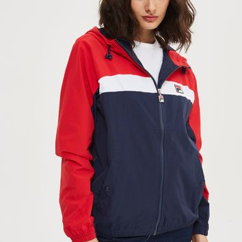Hooded Colour Block Jacket by FILA   Topshop
