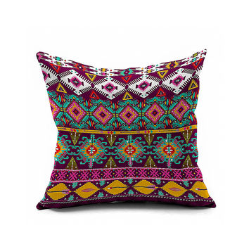 Cotton Flax Pillow Cushion Cover Geometry    JH237