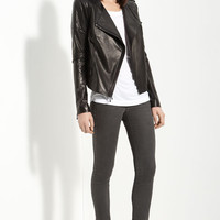 Vince Quilted Lambskin Leather Motorcycle Jacket