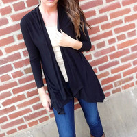 Classic Black Cardigan | The Rage