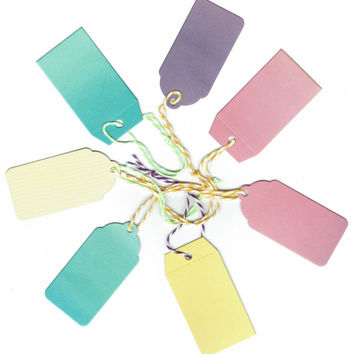Assorted Gift Tags, Die Cut, 7 Gift Tags, Colorful Gift Tags, Name Tag, Wine Glass Tag, Baby Shower, Christmas Ornament, Christmas Tags