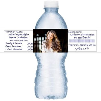 21 Personalized Graduation Water Bottle Labels Add Your Photograph