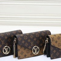 """Louis Vuitton"" Fashion Casual Multicolor Classic Tartan Purse Briefcase Long Section Fold Wallet Clutch Bag"
