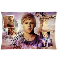 Niall Horan - One Direction Pillowcase, Colorful Throw Pillow Case (one side) Customized Home Fashion Zippered Pillowcase at Private-custom