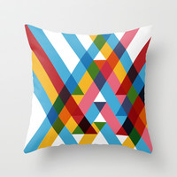 Ribbons Overlay Throw Pillow by Pencil Me In ™