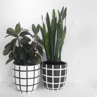 hand painted lightweight pots / multiple sizes