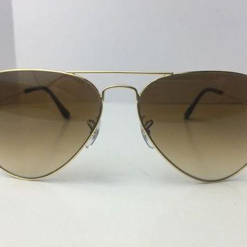 Gotopfashion Ray Ban Aviator Sunglasses RB3025 001/51 Brown Gradient Gold Frame 58mm