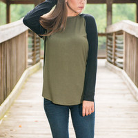 Two To Tango Tee, Olive-Black