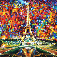 Paris Of My Dreams  — Artistic Signed Print on Cotton Canvas By Leonid Afremov