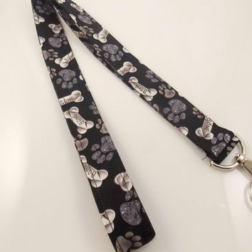Dog Lanyard Dog Bone Lanyard Pet Lanyard Teacher Lanyard Vet Lanyard Animal Lanyard Dog Paw Lanyard Dog Walker Lanyard Nurse Lanyard