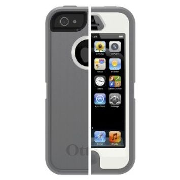 OtterBox Defender Series Cell Phone Case for iPhone 5/5S - Gray/White (77-33324P1)
