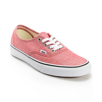 Vans Authentic Chambray Chili Pepper Canvas Shoe at Zumiez : PDP