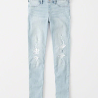 girls lace pull-on jean leggings | girls bottoms | Abercrombie.com