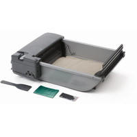 "Our Pets Deluxe SmartScoop Self-Scooping Litter Box Gray 25.5"" x 18.25"" x 7.5"""