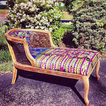 vintage boho/gypsy lounge chair