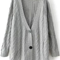 Grey Knitted Cardigans