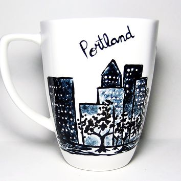 Hand Painted Long Distance Gift - Portland