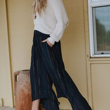 Say When Flowy Culotte Pant - Navy