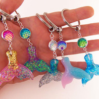 Custom mermaid keychains, mermaid keychain, mermaid key chain, mermaid tail, mermaid scale, mermaid scales, mermaid tail scale, party favors