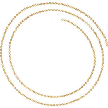 "14K Rose 1.5mm Solid Cable 16"" Chain"