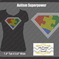 Autism Superpower Women's Rhinestone T-Shirt