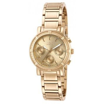 Invicta Women's 14873 Wildflower Quartz 3 Hand Champagne Dial Watch