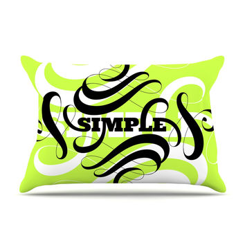 "Roberlan ""Simple"" Lime Green Pillow Sham"