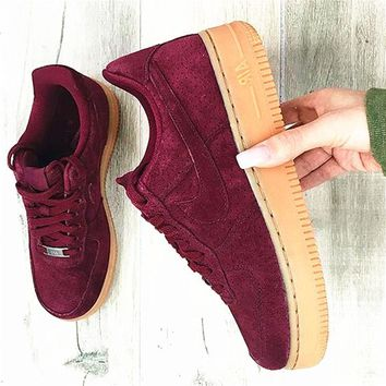 NIKE AIR Wine Red Fashion Men Running Sport Casual Shoes Sneakers G-AA-SDDSL-KHZHXMKH