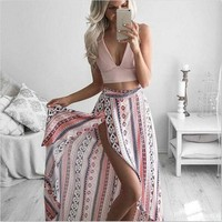 *online exclusive* floral wrap maxi skirt