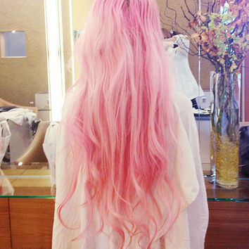 UNICORN Mane 30 Inches Regular Set 100g Silky Remy Hair Extensions ANY COLOR Clip In Pastel Unicorn Hair