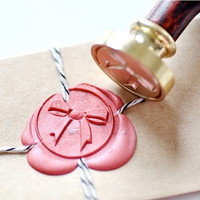 Bow Ribbon Gold Plated Wax Seal Stamp
